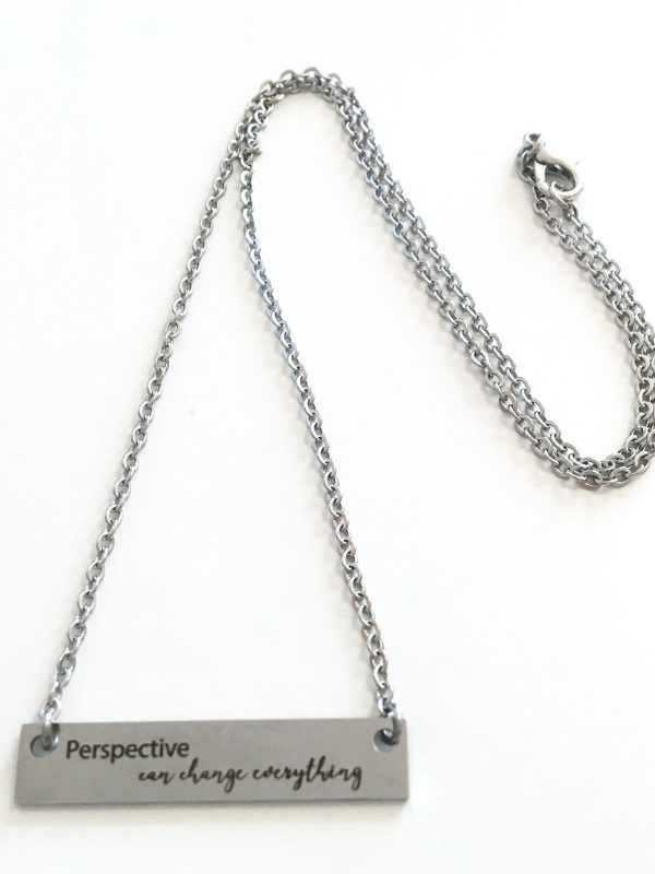 Full view of perspective can change everything necklace